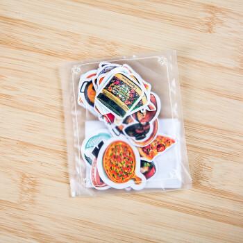 手账贴纸表情创意贴纸diy日记装饰周边贴纸卡通动物美食 披萨