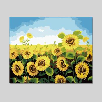 diy数字油画客厅卧室风景花卉填色手工绘画油彩装饰画