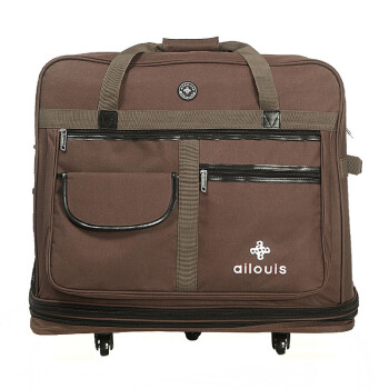 爱路易大容量158航空托运包飞机托运箱包行李袋可折叠行李箱男女旅行箱10111 褐色 36为5轮托运包