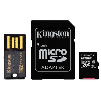 金士顿(Kingston)128GB 80MB/s TF(Micro SD)Class10 UHS-I高速存储卡 移动套件