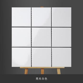 卫生间墙砖厨房瓷砖北欧厕所瓷砖小白砖马赛克黑白九宫格子砖300 亮光