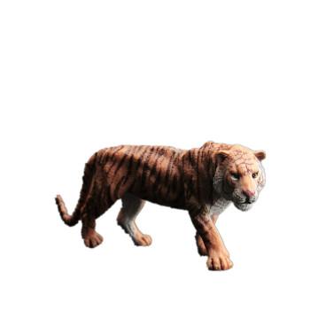 儿童仿真动物园玩具模型野生动物世界套装狮虎河马犀牛大象长颈鹿