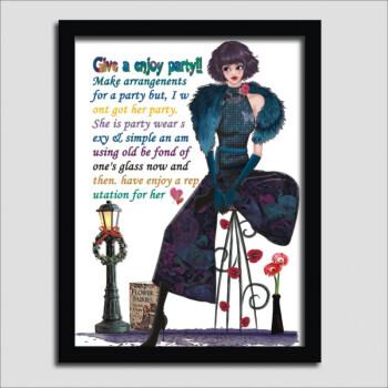 女裝店掛畫手繪黑白個性創意服裝店裝飾畫海報時尚背景墻壁畫框畫 20