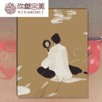 diy鲁班数字油画紫霞仙子宝无脸卡通动漫手绘油彩装饰