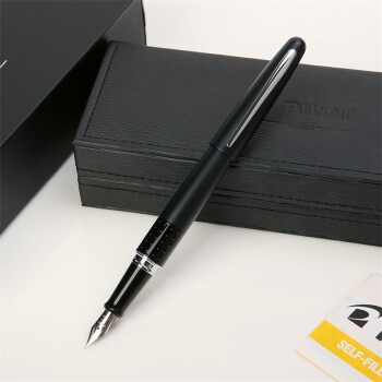 百乐(Pilot) 78G升级版速写钢笔/墨水笔 金属笔杆 88G黑色波点 F尖0.38