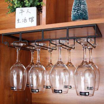 创意放挂红酒杯瓶的架子悬挂葡萄酒高脚杯架摆件倒挂欧式家用酒吧 4槽图片