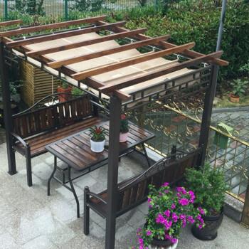 拙治 防腐木葡萄架庭院爬藤架户外别墅遮阳雨棚阳台专用碳化