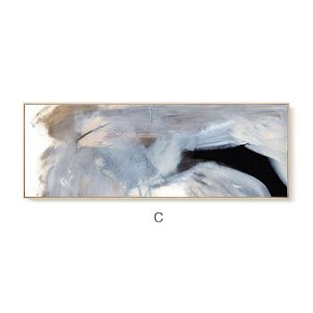 客厅装饰画 卧室床头ins色彩简约现代挂画 沙发背景墙有框画油画你知