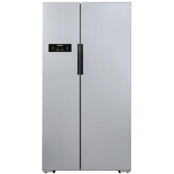 西门子(SIEMENS) BCD-610W(KA92NV60TI) 610升 风冷无霜 对开门冰箱 LED触摸显示屏 速冷速冻(银色)