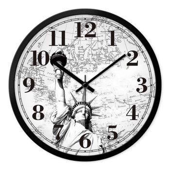 欧式钟表挂钟客厅办公创意时尚复古静音现代大时钟石英钟挂表 美国图片