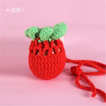 端午节蛋袋纯手工编织毛线小金鱼蛋网鸡蛋兜小孩挂脖