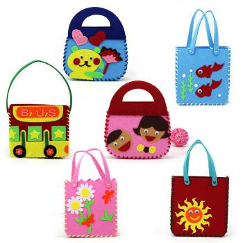 儿童幼儿园手工制作材料包无纺布不织布手工diy包包 无纺布— 整套6个
