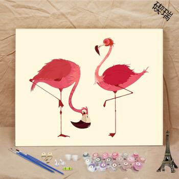 diy数字油画客厅卧室动物卡通动漫填色油彩手绘装饰画
