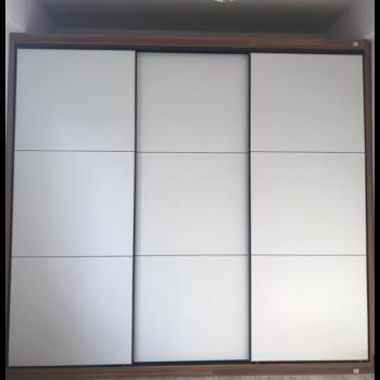 衣柜推拉门定做现代简约移门室内经济型衣橱壁柜门北欧衣柜门定制