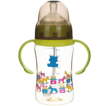 小白熊 宽口新生儿带手柄奶瓶240ml 婴儿PPSU防摔奶瓶 09533