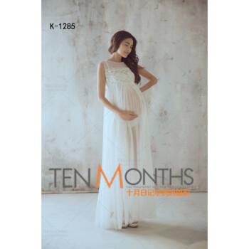2018新款孕妇照服装蕾丝白色性感可爱影楼妈咪孕照衣服拍照摄影服