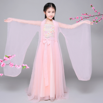 汉服儿童古装女童古装仙女装凉凉演出服小孩三世白浅古装古代衣服