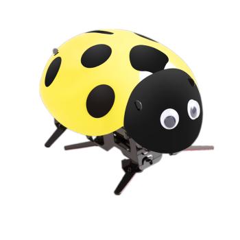 无线遥控仿真动物玩偶瓢虫机器人女孩充电昆虫抖音玩具 黄色瓢虫 标配