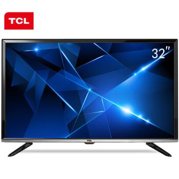 TCL D32E161 32英寸 内置wifi 窄边网络LED液晶电视(珠光黑)