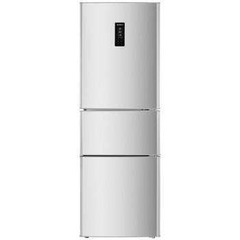 美菱(MeiLing) BCD-220E3C 220升 三门冰箱 电控控温 节能保鲜 省电静音 (亚光银)