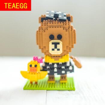 迷你积木益智拼装玩具兼容乐高小颗粒钻石积木布朗熊