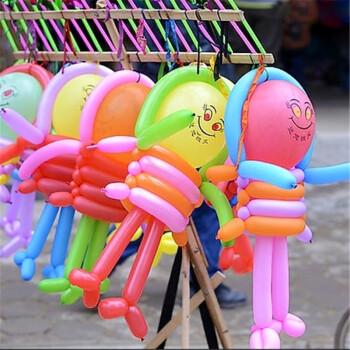 新年加厚小太子长条魔术造型气球儿童玩具笑脸气球送编制教程 笑脸图片