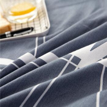 北极绒 全棉床单单件 纯棉被单双人床罩席梦思保护套 蓝韵阁 230*250cm 1.5/1.8米床