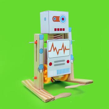 小扳手diy科技小制作行走机器人科学小发明儿童手工拼装玩具模型 材料