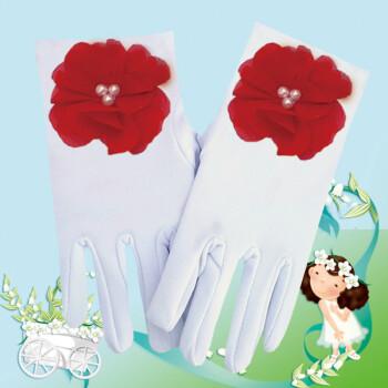 儿童蕾丝手套2018新品白色幼儿园小学生儿童手套公主女童舞蹈表演手套