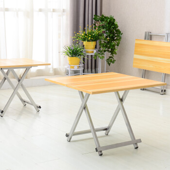 赛森小户型折叠餐桌正方形 简易折叠桌摆摊 家用吃饭桌子折叠方桌便携