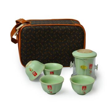 太初天诺 整套旅行茶具套装汝窑开片易泡茶壶茶杯茶具配件