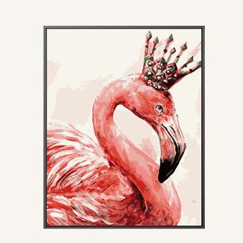 diy数字油画客厅餐厅动物自己手工绘画数码填色装饰画