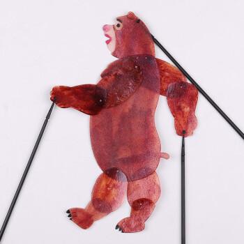 皮影戏道具儿童手工制作卡通人物玩偶幼儿园表演皮影戏手工diy 熊大