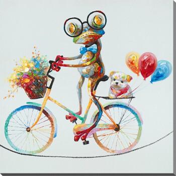 时尚家居挂画青蛙创意手绘动物抽象油画个性装饰画 40
