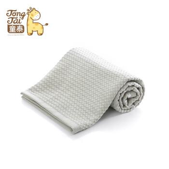 童泰婴儿春夏彩棉毛巾被新生儿宝宝浴巾纯棉柔软透气薄款儿童被 绿色 105*105cm