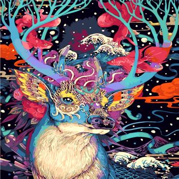 手绘油画diy风景花卉数字数码油画大幅客厅装饰画彩画