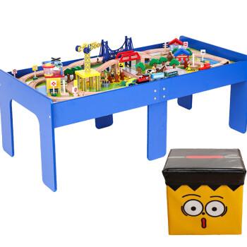 桌子拼装v桌子托马斯轨道儿童桌游戏桌面玩具桌积木火车2018新款澄海乾坤玩具图片