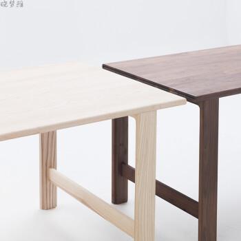 原木实木书桌会议桌餐桌白蜡黑胡桃 独立设计 北蜡木1.5米