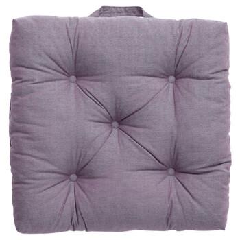 网易严选 果熟时蓬软坐垫 亲肤柔软居家沙发办公椅垫靠枕汽车靠垫腰靠 黑布林—紫褐