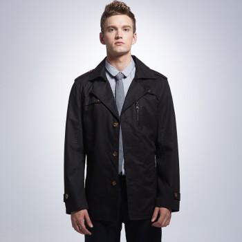 男装美特斯邦威秋冬新款gxg夹克风衣男士风衣男装森马外套以纯大衣海图片