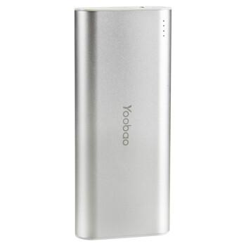 羽博 10000毫安 J4 双USB输出 移动电源/充电宝 银色 通用手机平板