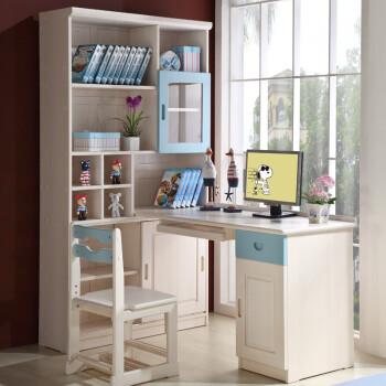 本屋家居组合电脑台实木转角书桌书柜学习桌1.