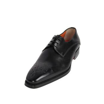 santoni 圣东尼男士时尚休闲系鞋带牛皮皮鞋11003