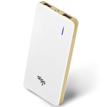爱国者(aigo)移动电源 聚合物10000mAh 充电宝N6超薄便携通用