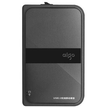 爱国者(aigo)HD816 无线硬盘wifi移动硬盘 高速usb3.0 抗震防摔 黑色 1TB