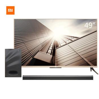 小米(MI)L49M2-AA(套装版)49英寸平板电视4K智能电视 套装含Soundbar低音炮 家庭影院独立音响系统