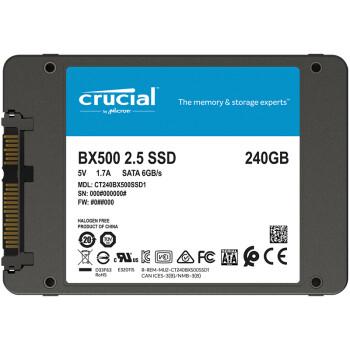 英睿达(Crucial)  240G SSD固态硬盘 SATA3.0接口 BX500系列