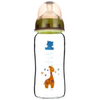 小白熊 Snow-Bear口感拟真宽口玻璃奶瓶XL 330ML 09777