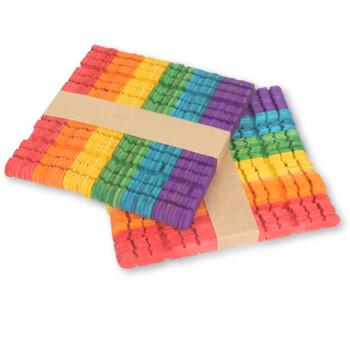 大贸商 雪糕棒diy手工制作材料玩具 棒冰棍棒幼儿园手工材料 100根