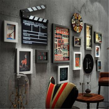 复古酒吧 墙面装饰 创意工业风理发店 墙壁挂件 个性餐厅饭店墙上挂饰图片